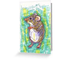 Harvest mouse drawing - 2015 Greeting Card