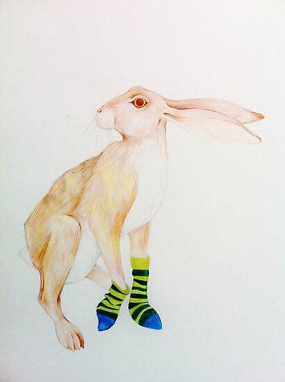 Striped Socks by Alice Prior