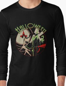 Halloween Witch Flying (vintage) Long Sleeve T-Shirt
