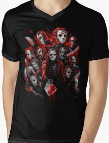 Jason Voorhees (Many faces of) Mens V-Neck T-Shirt