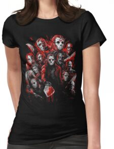 Jason Voorhees (Many faces of) Womens Fitted T-Shirt
