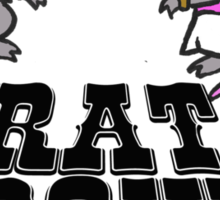 rat, wedding, bow Sticker