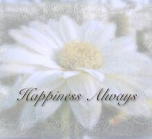 Wedding Happiness Greeting Card - White Gerbera Daisy by MotherNature