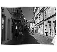 Narrow street in Croatian town Poster