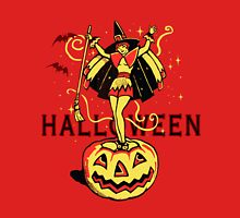 Halloween Witch Girl (vintage) Unisex T-Shirt