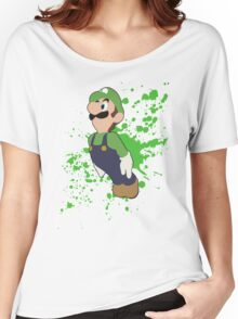 Luigi - Super Smash Bros Women's Relaxed Fit T-Shirt