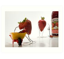 Where Strawberry Jam Comes From Art Print