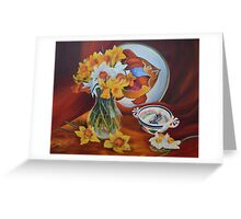 Spring time Art Deco Greeting Card