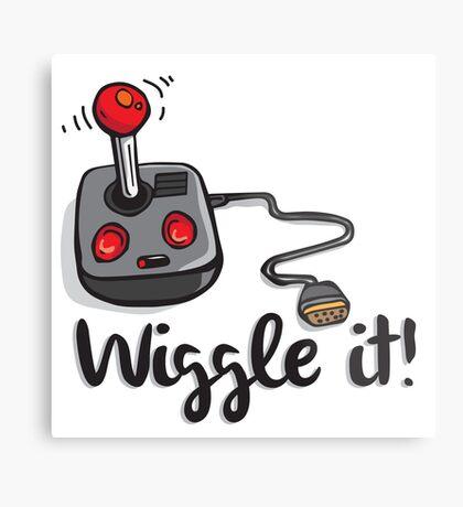 Old school gamer joystick - wiggle it! Metal Print