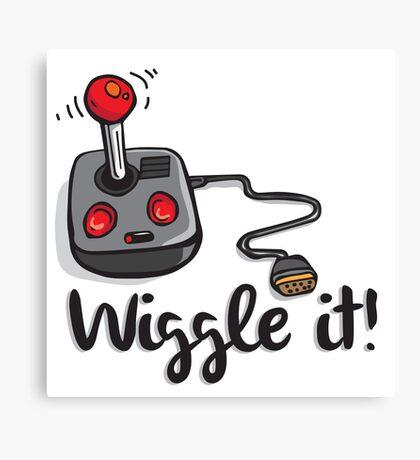 Old school gamer joystick - wiggle it! Canvas Print