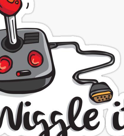 Old school gamer joystick - wiggle it! Sticker