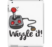 Old school gamer joystick - wiggle it! iPad Case/Skin