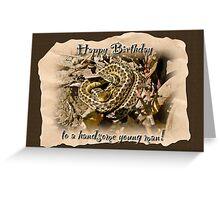 Boy Birthday Greeting Card - Baby Garter Snake Greeting Card