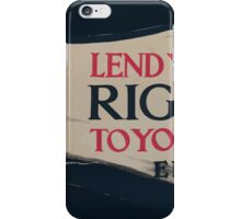 Lend your strong right arm to your country Enlist now iPhone Case/Skin