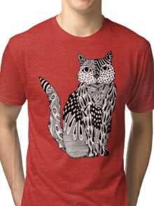 Cat Drawing Tri-blend T-Shirt
