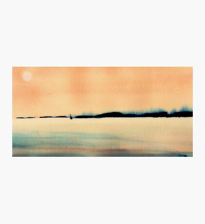 sailing the wind at sunset Photographic Print