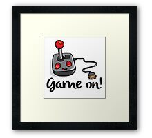 Game on! - Old school 80's computer Joystick Framed Print