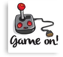 Game on! - Old school 80's computer Joystick Canvas Print