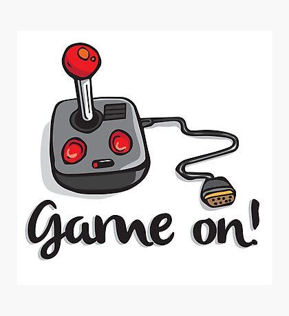 Game on! - Old school 80's computer Joystick Photographic Print