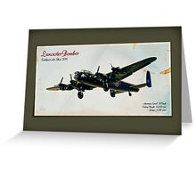 Southport Air Show - Lancaster Bomber Greeting Card