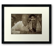 Two Men at the Window Framed Print