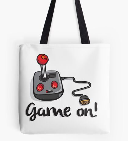Game on! - Old school 80's computer Joystick Tote Bag