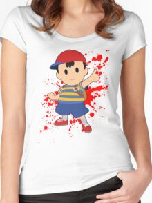 Ness - Super Smash Bros Women's Fitted Scoop T-Shirt