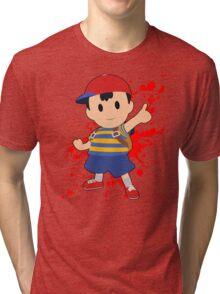 Ness - Super Smash Bros Tri-blend T-Shirt