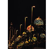 Blackpool at night Photographic Print