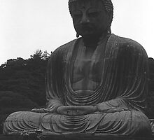 BW Japan Kamakura Great Buddha 1970s by blackwhitephoto