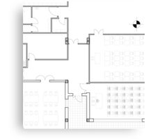 2D Plan Canvas Print