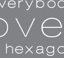 Everybody Loves A Hexagon Sticker