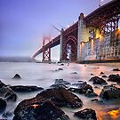 Golden Gate Star Night by jswolfphoto