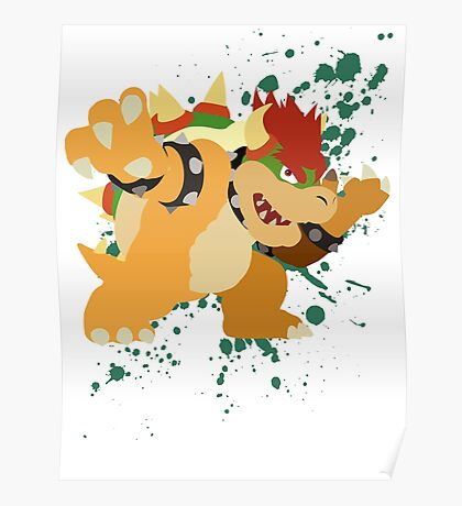 Bowser - Super Smash Bros Poster