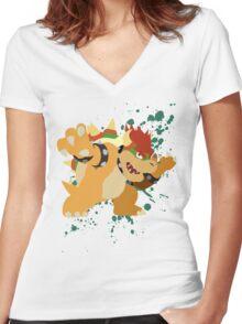 Bowser - Super Smash Bros Women's Fitted V-Neck T-Shirt