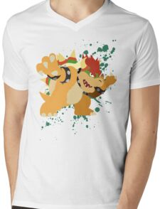 Bowser - Super Smash Bros Mens V-Neck T-Shirt