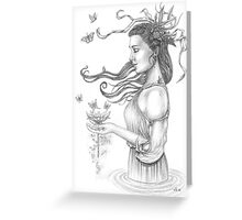 The offering Greeting Card