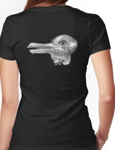 Rabbit, Duck, illusion, Is it a Rabbit or is it a Duck? Optical illusion, visual illusion Womens Fitted T-Shirt