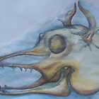 Dragon skull painting by s1lence