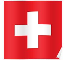 Swiss, Switzerland, Swiss Flag, Flag of Switzerland, White Cross, Swiss Confederation, Poster