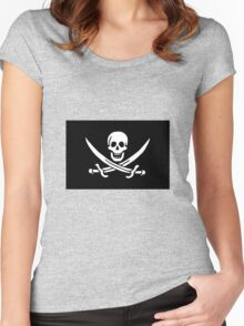 Pirate Flag - Calico Jack Women's Fitted Scoop T-Shirt