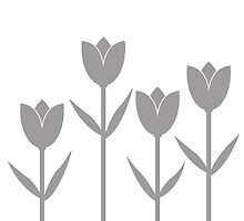 Tulips in Grey by Baharcreative