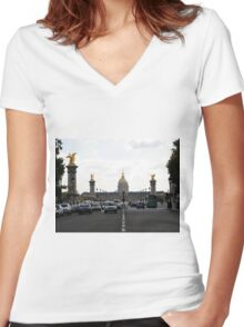 These stupid tourists... Women's Fitted V-Neck T-Shirt