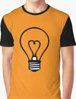 bulb heart electrician ampoule idea Graphic T-Shirt