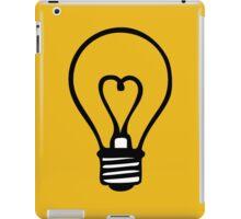 bulb heart electrician ampoule idea iPad Case/Skin