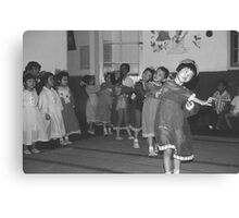 BW China Shanghai child care 1970s Canvas Print
