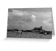 BW China pekin Tiananmen square 1970s Greeting Card