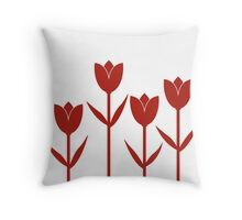 Tulips in Red Throw Pillow