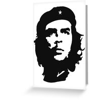 CHE, Che Guevara, Revolution, Marxist, Revolutionary, Cuba, Power to the people! Black on White Greeting Card