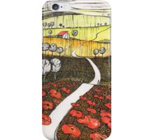 Vista over the poppyfields iPhone Case/Skin